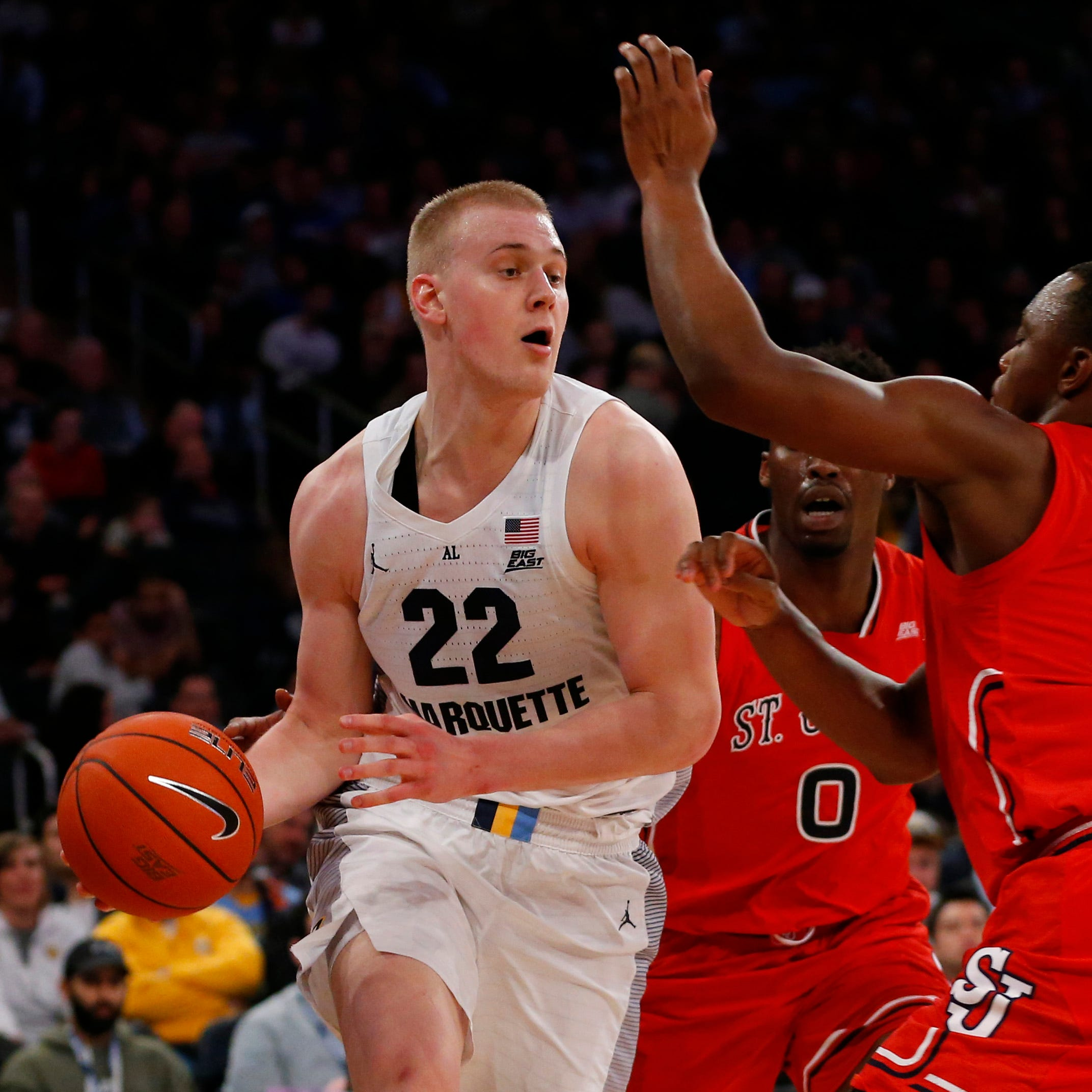 Ex-Marquette forward Joey Hauser set on transferring to Michigan State