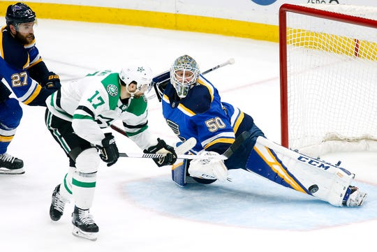 Jordan Binnington's play in goal gets much of the credit for the Blues turning around their season.