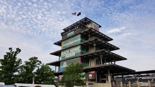 The pagoda inside Indianapolis Motor Speedway on Sunday, May 26, 2019.
