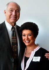 NFL legend Bart Starr and wife Cherry, who met while in school at Lanier High, attend the Legends of Lanier banquet and reception held at the Renaissance Hotel and Spa and Convention Center to celebrate the centennial of Sidney Lanier High School Saturday, July 31, 2010. (Montgomery Advertiser, David Bundy)