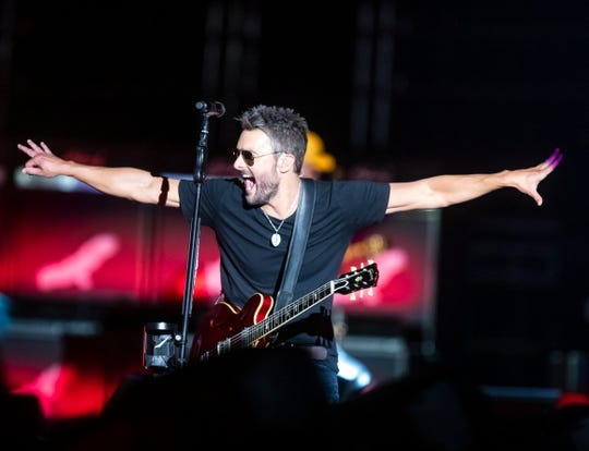 Eric Church performs at Nissan Stadium Saturday, May 25, 2019.
