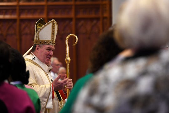 Joseph W. Cardinal Tobin, Archbishop of Newark, at the Cathedral Basilica of The Sacred Heart. The Newark Archdiocese ordains new priests on Saturday, May 25, 2019.
