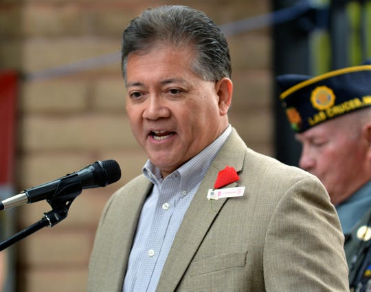 Las Cruces Mayor Ken Miyagishima — seen here at a Memorial Day weekend ceremony in 2019 — said during a city council work session on Monday, Jan. 13, 2020, that he does not support legislation to legalize recreational marijuana.