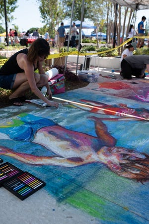 CivicCon hosted its first sidewalk chalk festival, called Let's Chalk About It!, Saturday, May 25, 2019, outside the Studer Community Institute in Pensacola.