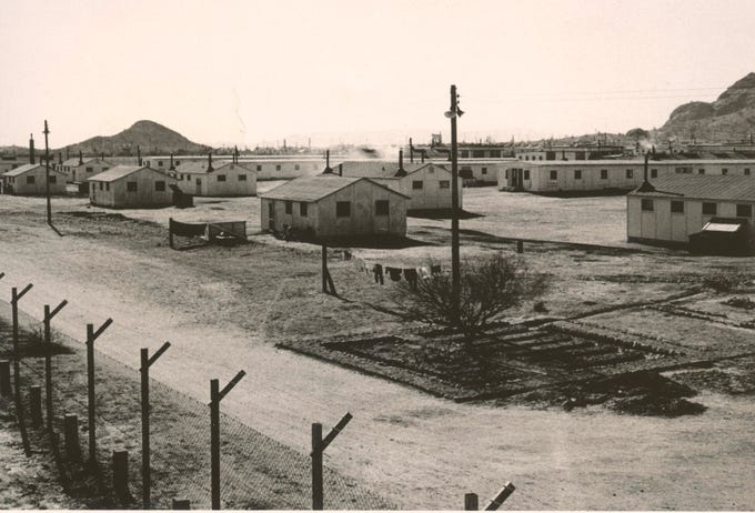Compound 2 at Camp Papago Park during WWII. During the night of the Great Papago Escape, the German POWs in Compound 2 staged a demonstration to distract the guards as the escape from Compound 1 happened.