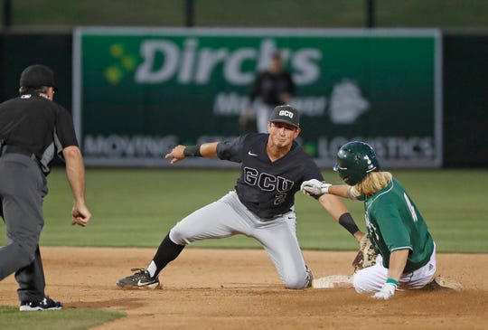 Scenes from the Grand Canyon-Sacramento State game in the 2019 WAC baseball tournament.
