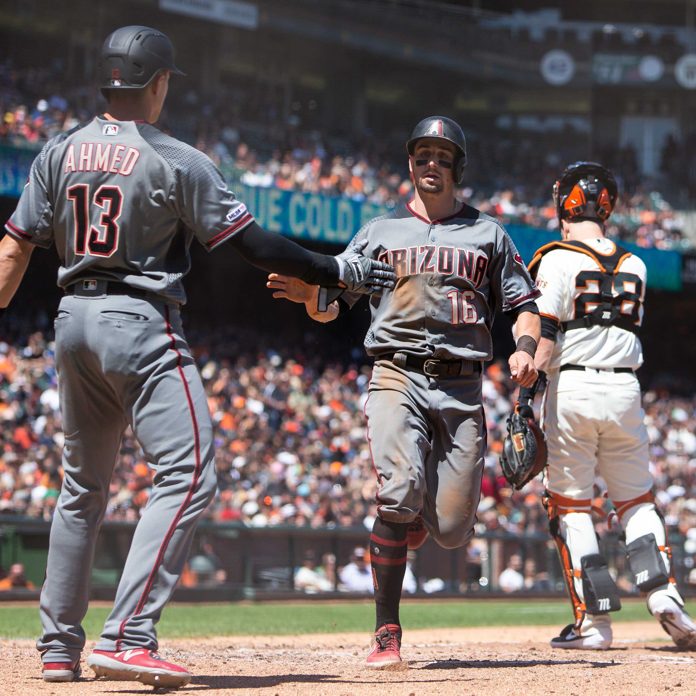 Tim Locastro, Diamondbacks pound Giants for second win in as many days