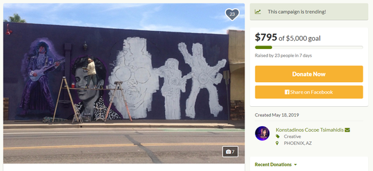 GoFundMe page for Prince mural