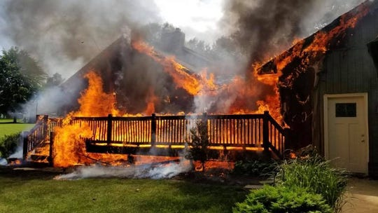 Fire ripped through a York Township home on Saturday.