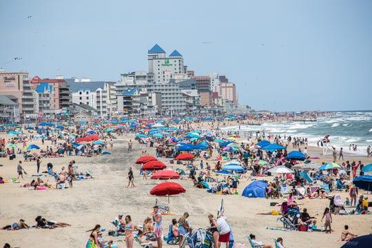 The beach was full of sun seekers Saturday in Ocean City.