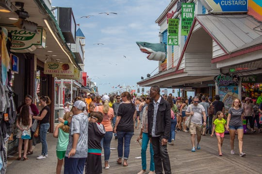 The Boardwalk was full of people enjoying the sunny Saturday in Ocean City.
