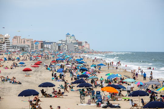 The beach was packed with sun seekers Saturday in Ocean City.