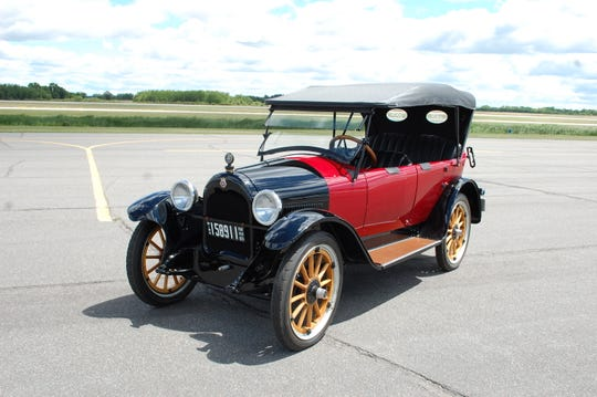 The red 1919 Pan Car is St. Cloud Antique Auto Club president Ray Maier's favorite of the models in the club's possession. It will visit Pantown Brewing Co. on Wednesday, May 29.