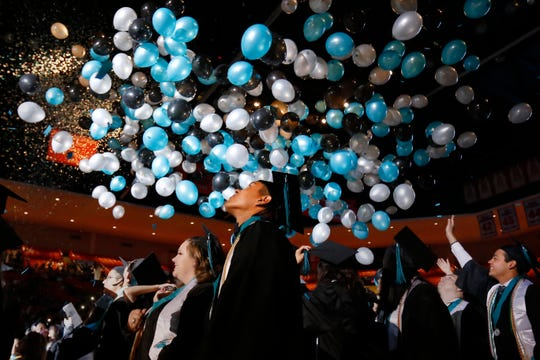 Transmountain Early College High School celebrated its eighth graduation ceremony Saturday, May 25, 2019, at the Don Haskins Center as 104 students graduated.