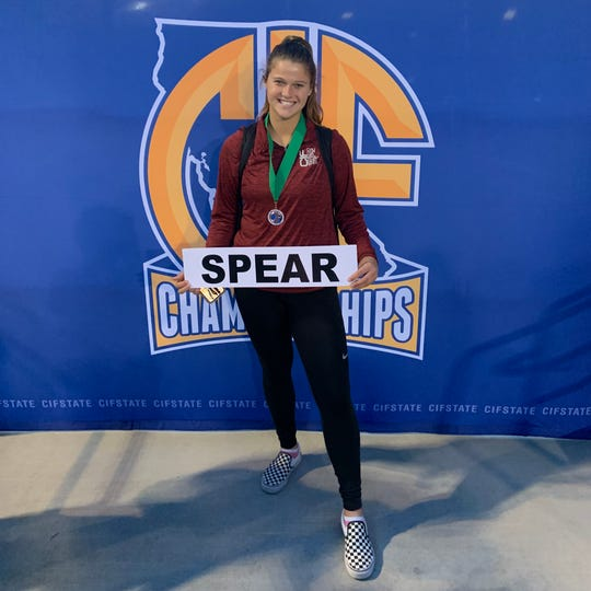 Thousand Oaks senior Amanda Spear finished sixth in the girls discuss at the CIF State track and field championships on Saturday at Buchanan High in Clovis.
