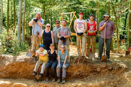 On Aug. 6, 2018, team members are pictured at a dig site in northern France during a World War II M.I.A. soldier recovery mission that was a joint effort between the University of Wisconsin-Madison and the U.S. Defense POW/MIA Accounting Agency (DPAA). The work resulted in the identification of Army Air Forces 2nd Lt. Walter B. Stone, 24, of Andalusia, Alabama. He will be buried in his hometown on May 11, 2019.