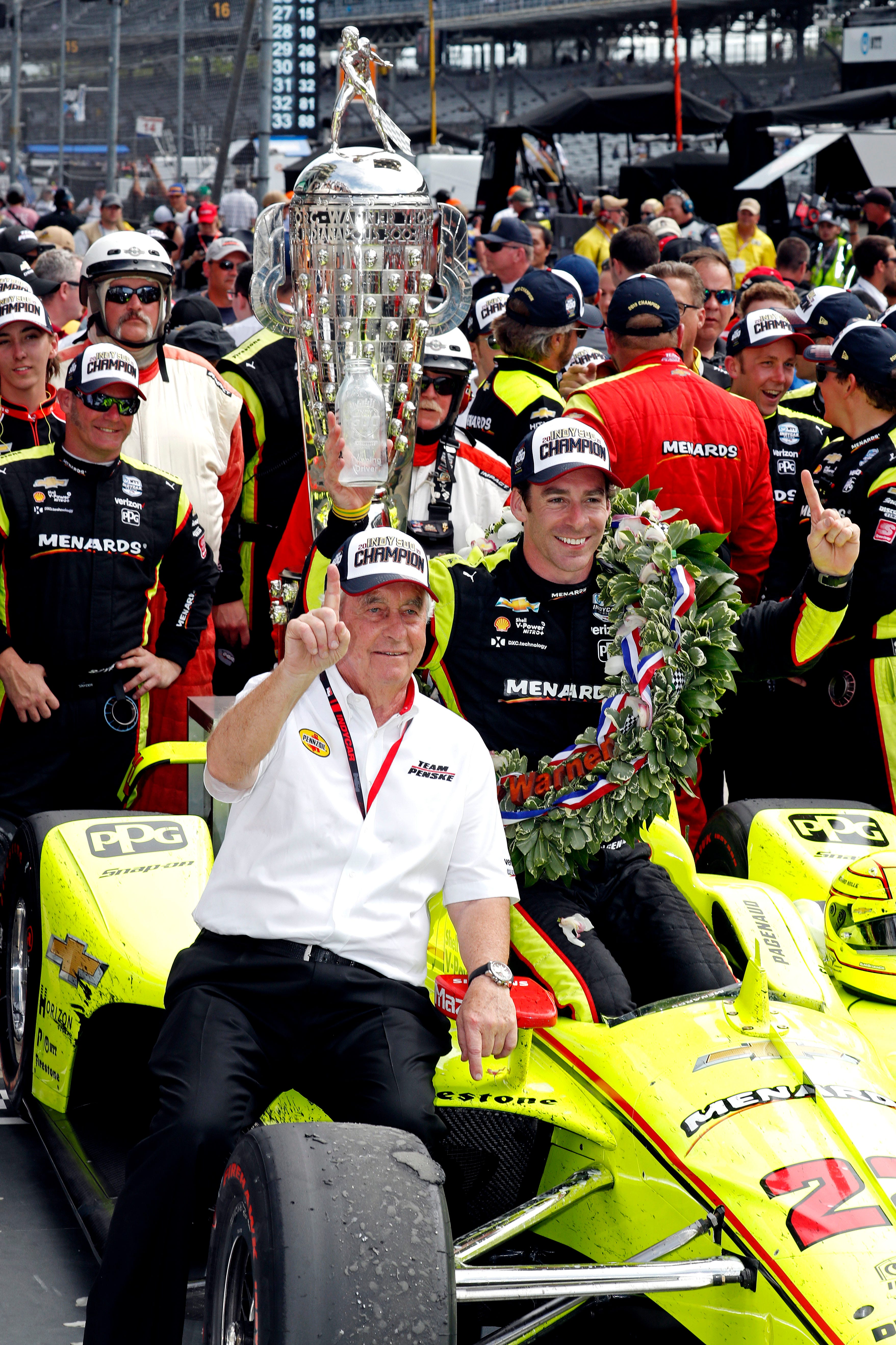 President Trump issues White House invitation to Indy 500 winner Simon Pagenaud, Roger Penske
