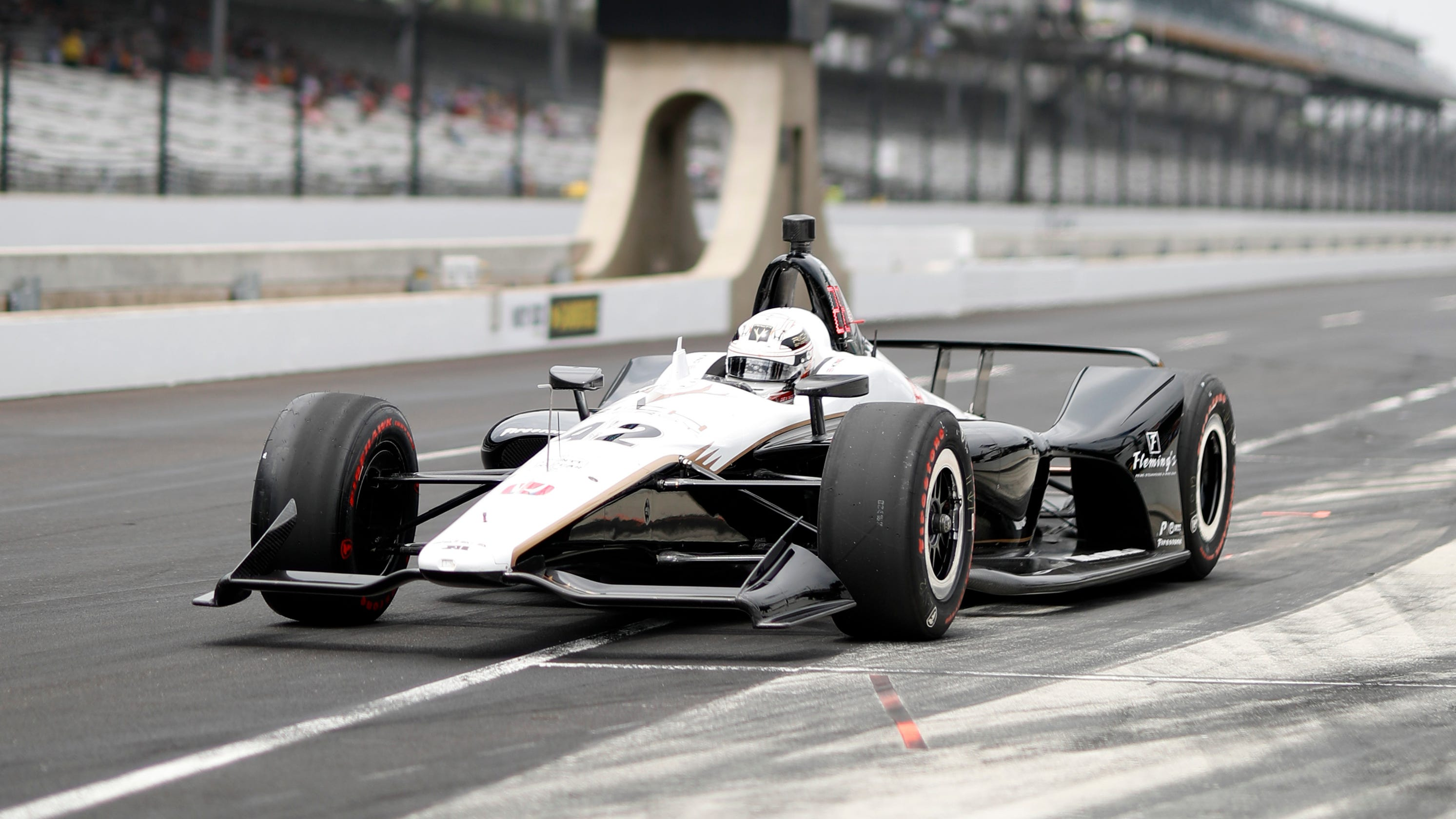 Crew member injured at Indy 500 when Jordan King's car makes contact on pit road