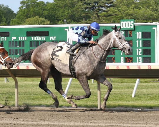 Sunny Ridge, with Jose Lezcano riding,   won the $150,000 Grade III Salvator Mile at Monmouth Park Racetrack in Oceanport, NJ on Saturday May 25, 2019.