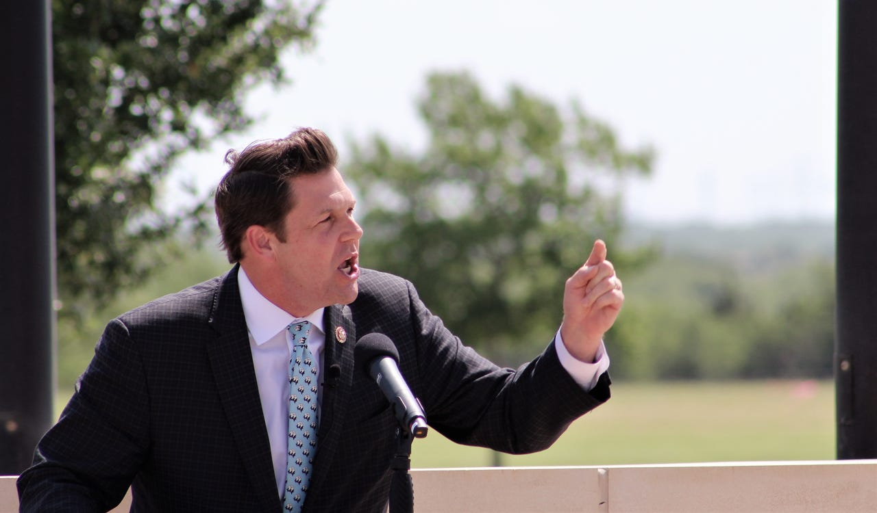 U.S. Rep. Jodey Arrington spoke about service Monday, but especially by the patriotic residents of West Texas. Arrington was the speaker for a ceremony at Texas State Veterans Cemetery at Abilene. May 27 2019