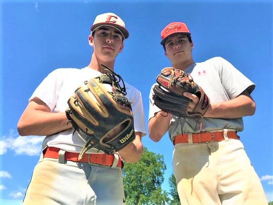 Cherokee pitchers Jake Prince, left, and Andy Walters have been instrumental to the team's push to the sectional semifinals.