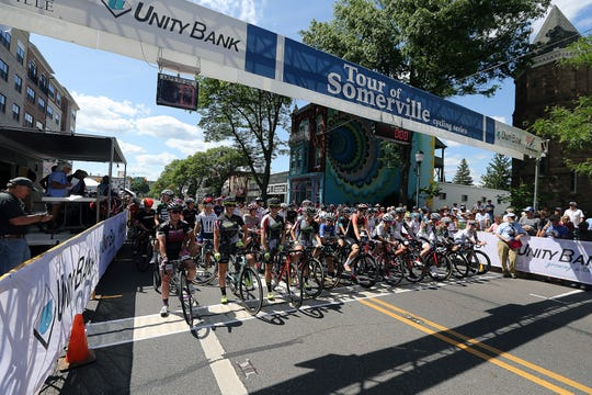The 76th Tour of Somerville. Women's race about to start Monday May 27, 2019