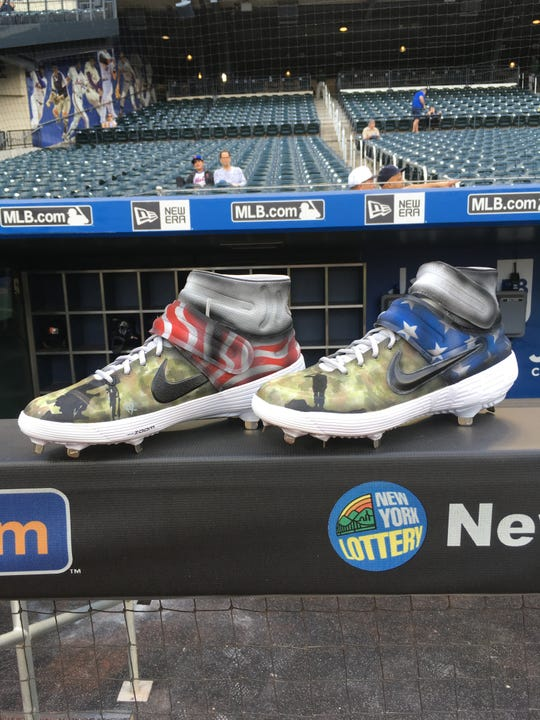 7288400f17b Check out this Detroit Tiger s custom Memorial Day cleats