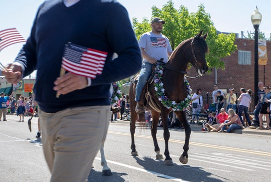 The Ferndale Memorial Parade begins along 9 Mile Road in Ferndale, Mich., Sunday, May 27, 2019.