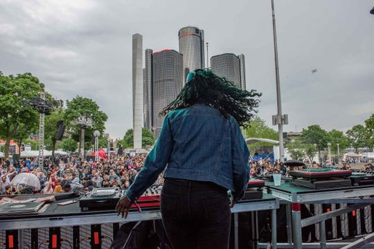 DJ Minx performed on the Stargate Stage during Movement 2019 at Hart Plaza, May 26, 2019.