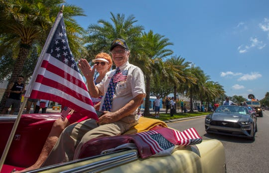 Ralph and Alma Santillo were participants in the inaugural Memorial Day Parade in Cape Coral, which took place along Cape Coral Parkway Monday afternoon.  The parade was hosted by Southwest Florida Military Museum & Library.