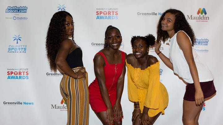 On the red carpet with Greenville News Upstate Sports Awards winners in SC