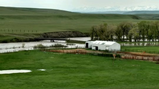 Rivers are rising on the Blackfeet Reservation threatening homes and other buildings.