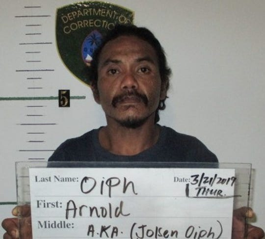 Jolsen Oiph, also known as Arnold Oiph, 29, was charged in Superior Court with burglary to a motor vehicle as a second-degree felony and assault against a peace officer as a third-degree felony.