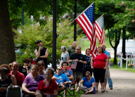 The 73rd Henderson Memorial Day Service at Central Park was well-attended as Monday morning.