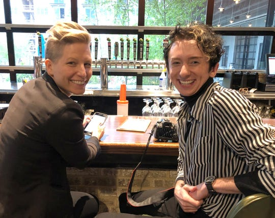 Dr. Katie Imborek of the University of Iowa LGBTQ Health Clinic, and photographer Treyner Wentzien.