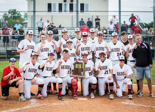 Wapahani defeated Monroe Central during their sectional championship game at Lapel High School Monday, May 27, 2019.