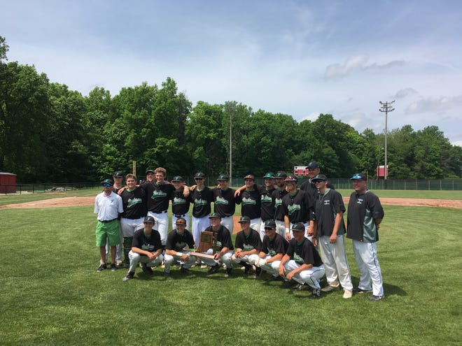 Yorktown baseball celebrates after a third-straight sectional championship.