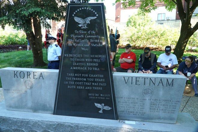 Plymouth War Memorial Park memorial to Korea and Vietnam War veterans.