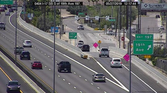 Northbound 19th Ave is closed at the freeway because of a crash north of I-17. The exit ramps are restricted.