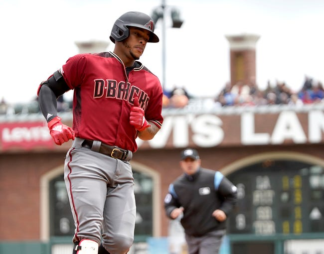 Arizona Diamondbacks' Ketel Marte rounds the bases after hitting a solo home run against the San Francisco Giants during the first inning of a baseball game in San Francisco, Sunday, May 26, 2019.