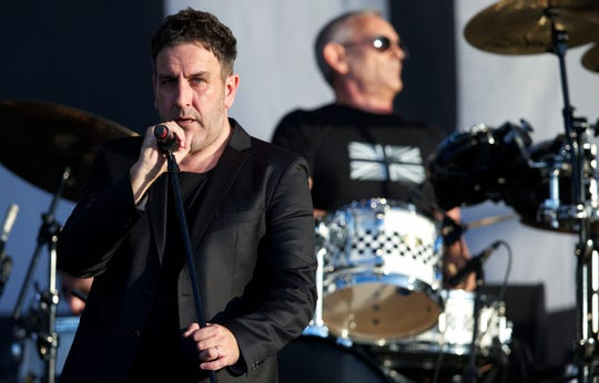 The Specials perform at the BT London Live - Closing Ceremony celebration concert in Hyde Park, London, on the last day of the London 2012 Olympic Games on August 12, 2012.