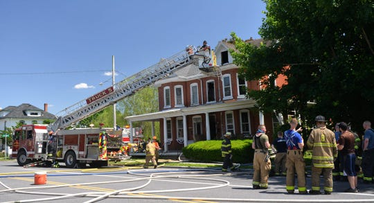 Firefighters responded to a fire in Cleona on Monday afternoon. It went to two alarms.