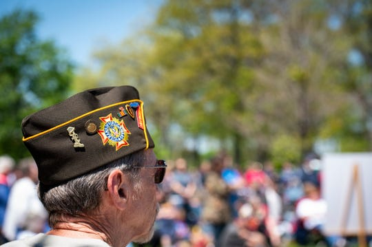 The names of 21 veterans were added to the memorial at Pine Grove Park in Port Huron during the annual Memorial Day ceremony in 2019.