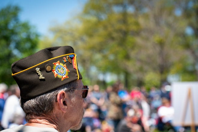 The names of 21 veterans were added to the memorial at Pine Grove Park in Port Huron during the annual Memorial Day ceremony held Monday, May 27, 2019.
