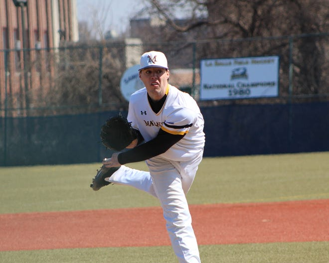 Shippensburg grad Cordell Shannon hurls a pitch for Millersville