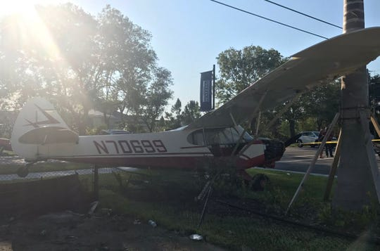 A small plane made an emergency in a Palm City neighborhood Monday afternoon.