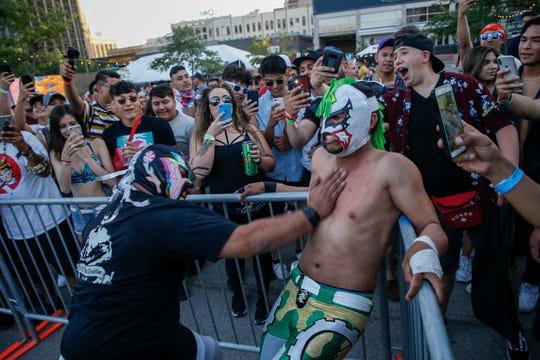 El Paso Heroes Lucha Libre dazzles Neon Desert Festival attendees.
