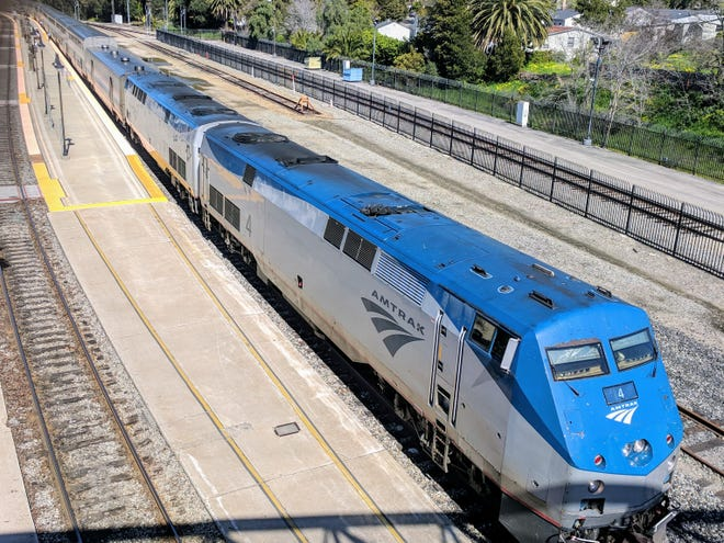 The southbound Coast Starlight departs from its stop in San Luis Obispo's Amtrak station to continue its daily journey from Seattle to Los Angeles. A five-hour sampler trip on this, one of the nation's finest long-distance trains, is a fun getaway from Ventura County.