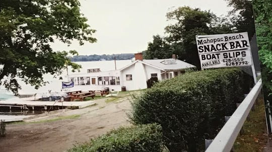 The Mahopac Beach Snack Bar was purchased by Michael Barile and Tommy Boniello in 1989. This picture, from town of Carmel files, is from March, 1987. The septic system's leaching fields were not yet paved over.