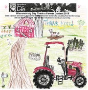 Mady, 9, of Reedsburg, was the winner fo the Wisconsin Ag in the Classroom National Ag Day drawing contest.